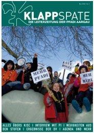 Klappt den Spaten nicht zusammen! - Kantonalverband Pfadi Aargau