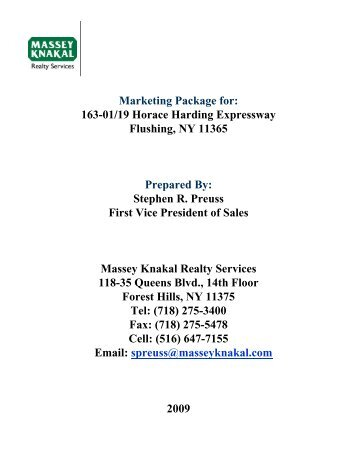 163-01/19 Horace Harding Expressway Flushing, NY 11365 ...