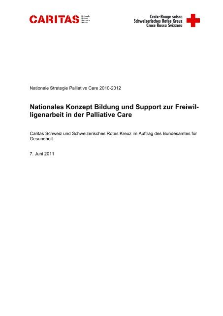 Nationales Konzept Bildung und Support zur Freiwil- ligenarbeit in ...