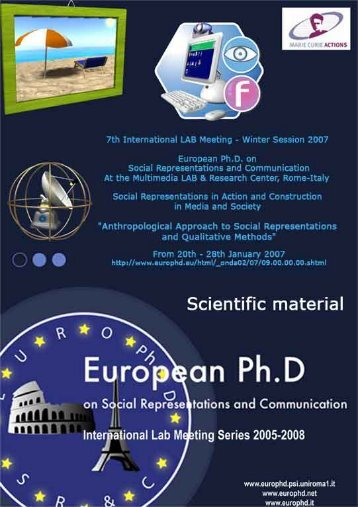 boomerang - European Doctorate on Social Representations and ...