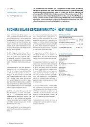 fischers solare kerzenfabrikation, 6037 root/lu - Solar Agentur Schweiz