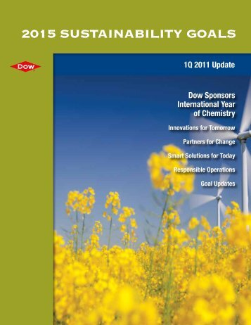 2015 Sustainability Goals Update - The Dow Chemical Company