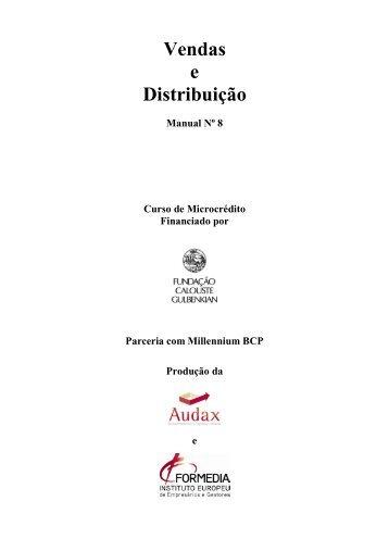 Manual nº8 - Vendas e Distribuição - Fundação Calouste Gulbenkian