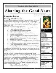 November, December 2012, January 2013 Newsletter - Home
