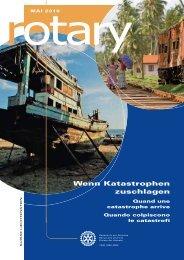 Wenn Katastrophen zuschlagen - Rotary Schweiz
