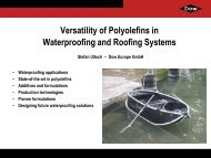 Versatility Of Polyolefins In Waterproofing And Roofing Systems