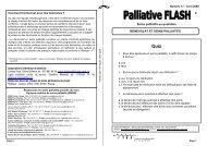 Soins palliatifs au quotidien BENEVOLAT ET SOINS ... - Arcos