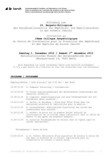 Tagungsprogramm - Karch