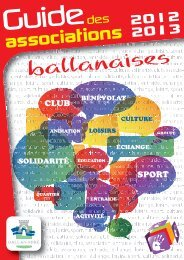 Guide des Associations 2012-2013 (pdf - 5,13 - Ballan-Miré