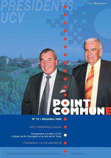 point commune 19 - Union des communes vaudoises