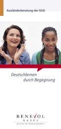 Deutschlernen durch Begegnung - Integration Basel