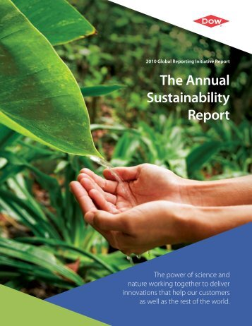 The Annual Sustainability Report - The Dow Chemical Company