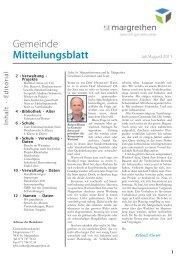 Gemeinde Mitteilungsblatt - St. Margrethen