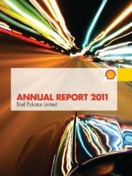 2011 Shell Annual Report (PDF, 9 MB) - opens - Shell Pakistan