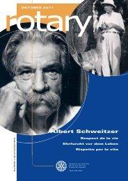 Oktober-Ausgabe des Rotary Magazin - Rotaract Club Basel