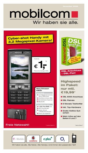 Exklusiv bei mobilcom. Top-Handys inkl. BIG FLAT Tarif - dplusm.de
