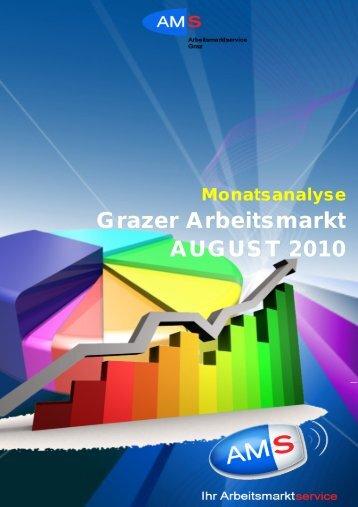 Grazer Arbeitsmarkt AUGUST 2010