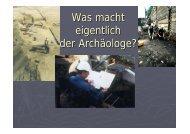 Wie datiert der Archäologe? - Denkmal aktiv