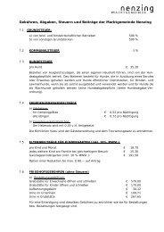 Anhang 10. GV-Sitzung 2011 - Marktgemeinde Nenzing
