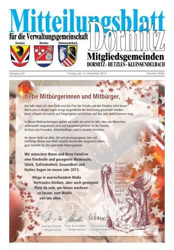 Gemeinde Kleinsendelbach - der VG Dormitz