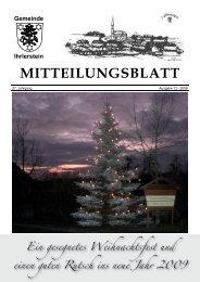 MITTEILUNGSBLATT - Ihrlerstein