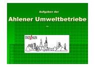 Aufgaben Ahlener Umweltbetriebe - WFG-Ahlen