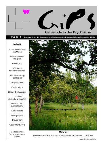 Gemeindebrief Mai 2012 - Evangelische Stiftung Tannenhof