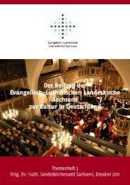 Der Beitrag der Evangelisch-Lutherischen Landeskirche Sachsens zur