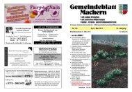 Amtsblatt Nr. 185 April 2010 - Gemeinde Machern