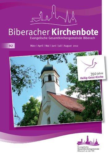 Bonhoefferkirche - Evangelische Gesamtkirchengemeinde Biberach