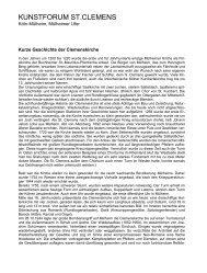 Kurzen Geschichte der Clemenskirche (PDF-Datei) - Sankt Clemens ...