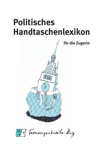 Politisches Handtaschenlexikon - Frauenzentrale Zug