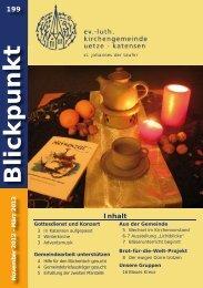 Blickpunkt - Ev. luth. Kirchengemeinde Uetze