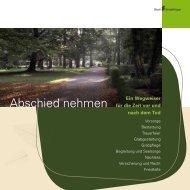 Abschied nehmen (PDF) - bei der Stadt Sindelfingen