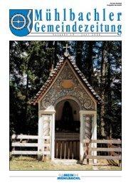 Gemeindezeitung Nr. 19 vom Juli 2006 - Mühlbachl - Land Tirol