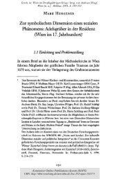 Wien im 17. Jahrhundert - KOPS - Universität Konstanz