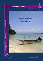 Gemeindebrief Sommer 2012 - Evangelische Kirchengemeinde ...