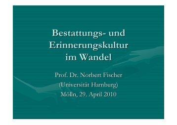 Vortrag von Prof. N. Fischer