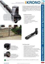 Serie KR ONO - Drehtorantriebe mit Spindelmec hanik - CAME GmbH