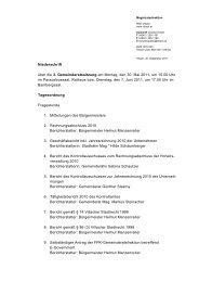 Niederschrift über die 3. Gemeinderatssitzung am Montag ... - Villach