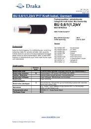 BU 0,6/1kV - Draka norsk kabel