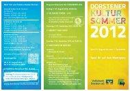 Mehr Info und Tickets erhalten Sie hier: vhs und kultur Stadt Dorsten