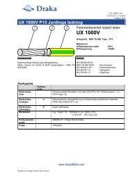 UX 1000V P15 Jordings ledning - Draka norsk kabel