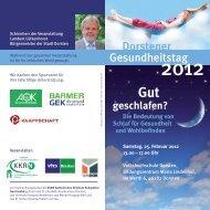 Dorstener Gesundheitstag - Stadt Dorsten