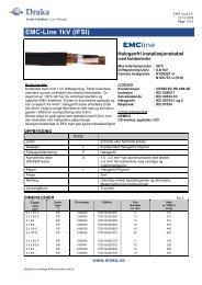 EMC-Line 1kV (IFSI) - Draka norsk kabel
