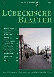 """Über die """"KinderschauSPIELschule"""" in Lübeck - Lübeckische Blätter"""