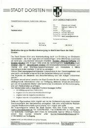 Anschreiben - Stadt Dorsten