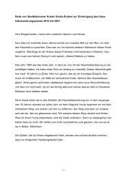 Rede von Stadtkämmerer Hubert Große-Ruiken zur ... - Stadt Dorsten