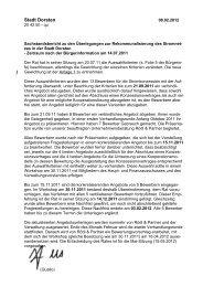 Beschluss des Rates vom 20.07.2011 - Stadt Dorsten