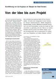 Von der Idee bis zum Projekt - Stadt Dorsten